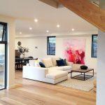 Styled by #tres large scale, black aluminium windows, cream oversized sofa and J...