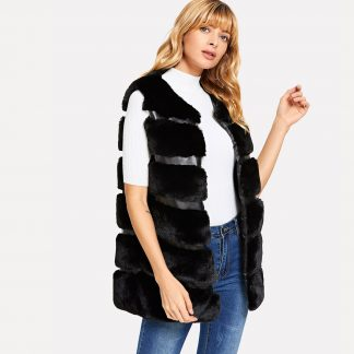 Soft Faux Fur Shell Coat