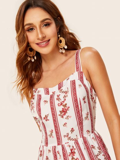 Ditsy Floral Ruffle Hem Cami Dress
