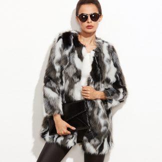 Faux Fur Open Front Fuzzy Coat